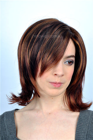 Fashion Medium Length mixed colour party wig