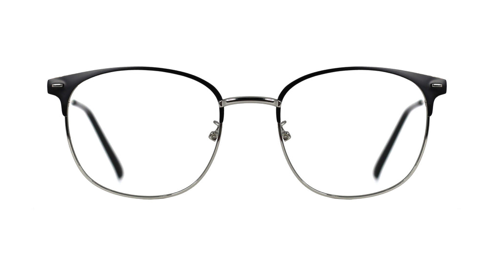 Kooper Blue Light Glasses - Harlow Silver Black