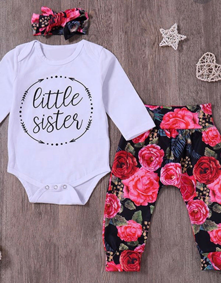 Little Sister Fall Flower - 3 Piece Set