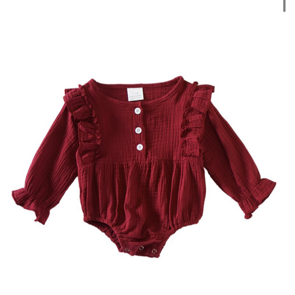 Autumn Ruffle Romper (Baby's)     FALL KIDS