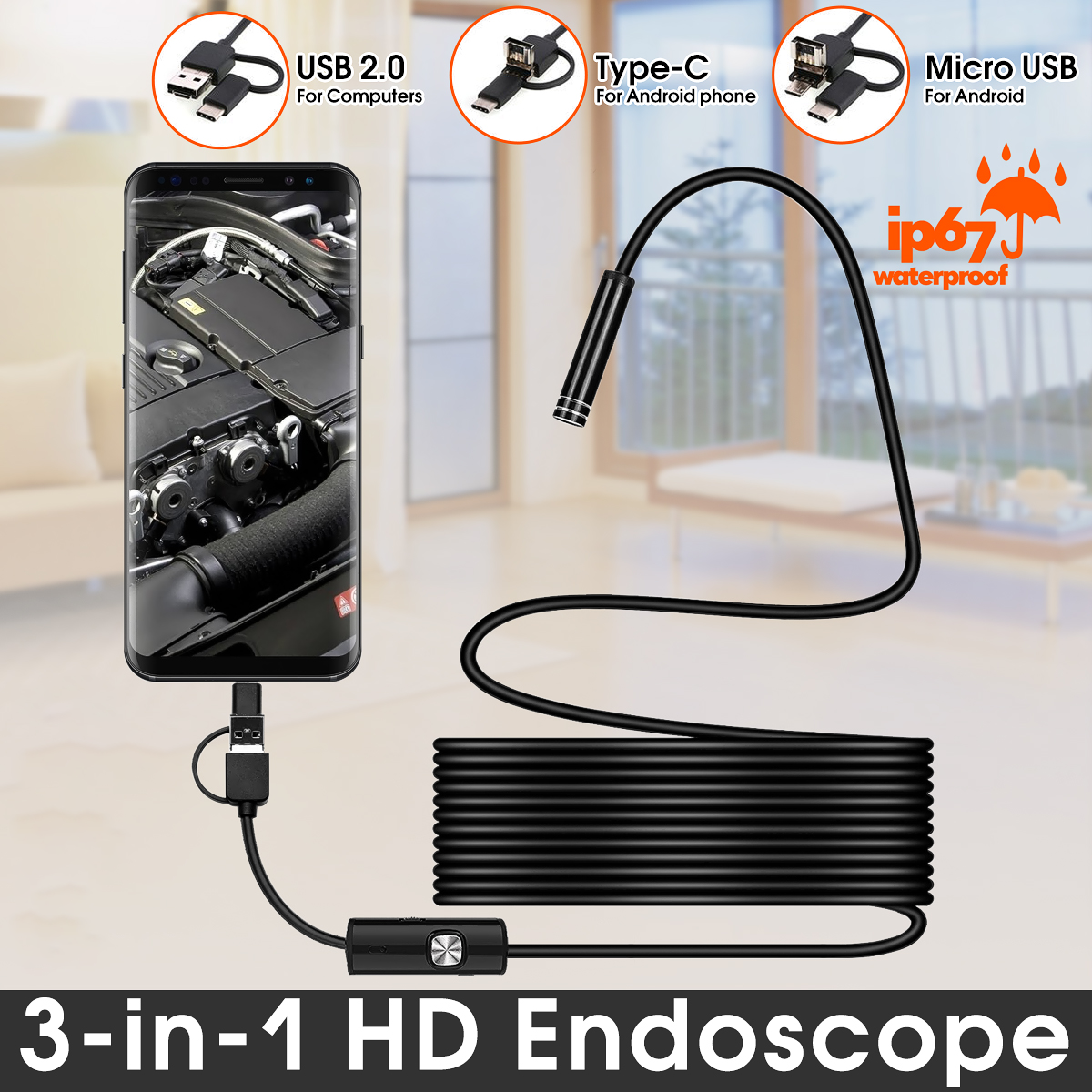 borescope inspection camera