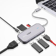 Load image into Gallery viewer, Electronics - USB C Multi Port USB 3.0 Data Hub USB Port And TF Card Reader