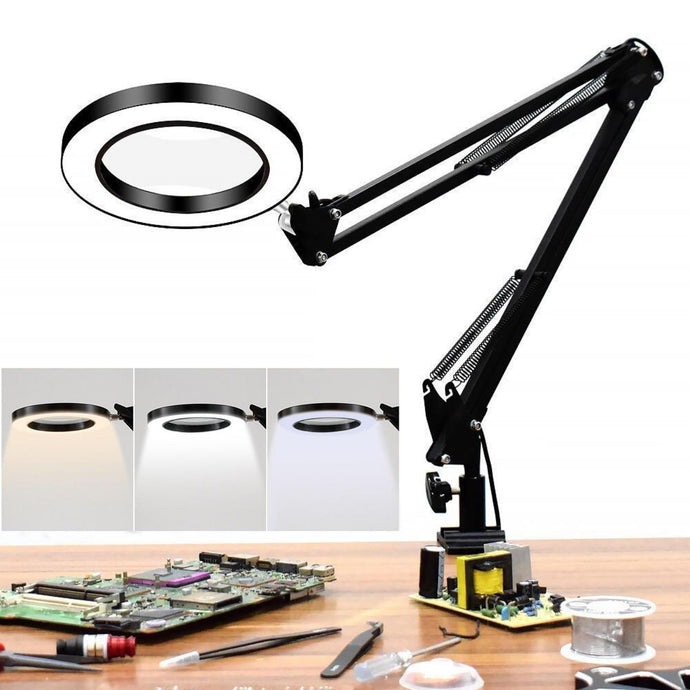 magnifying lamp with lights