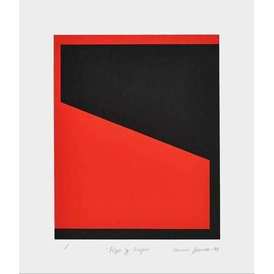 Carmen Herrera, Rojo y Negro (Red and Black), 1993 | Lougher Contemporary