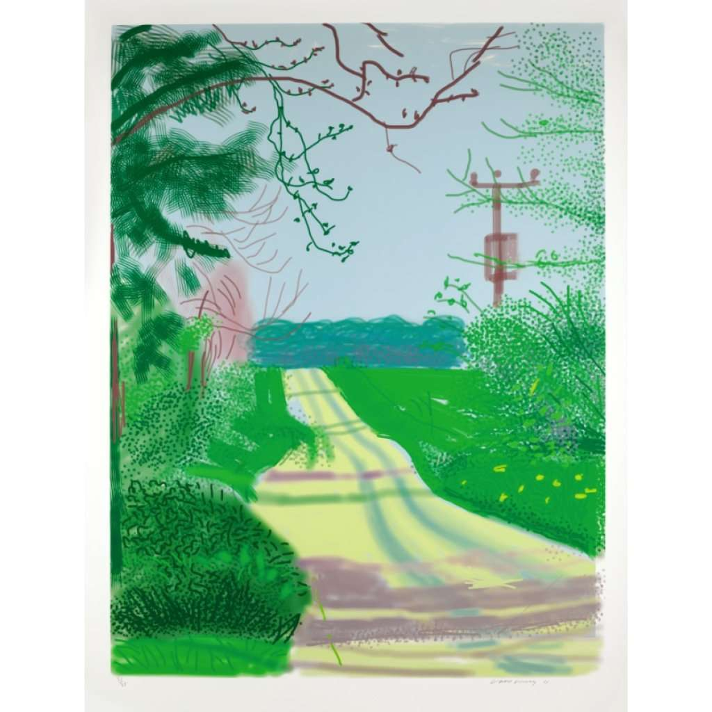 David Hockney, The Arrival of Spring in Woldgate, East Yorkshire in 2011 - 23 April 2011, 2011 | Lougher Contemporary