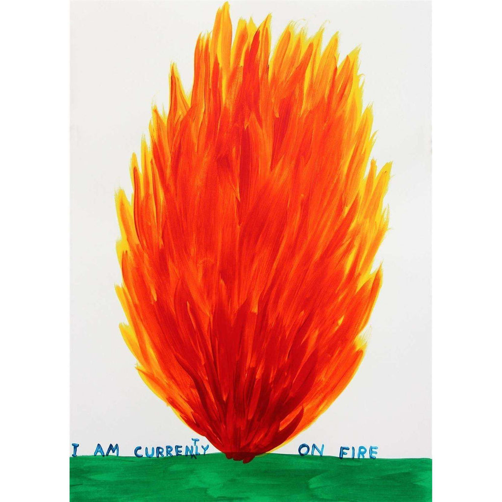 David Shrigley, I Am Currently On Fire, 2018 | Lougher Contemporary