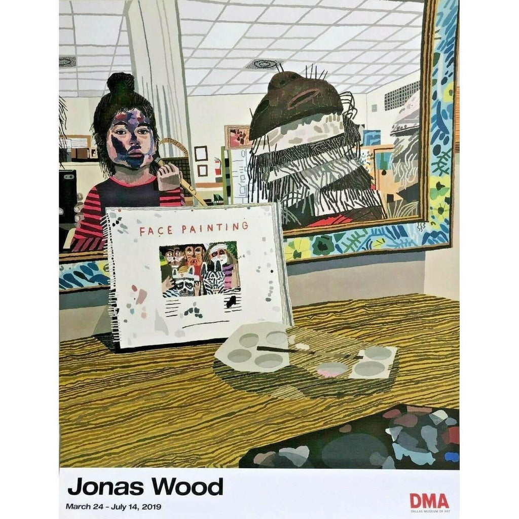 Jonas Wood, Face Painting, Dallas Museum, 2019 | Lougher Contemporary
