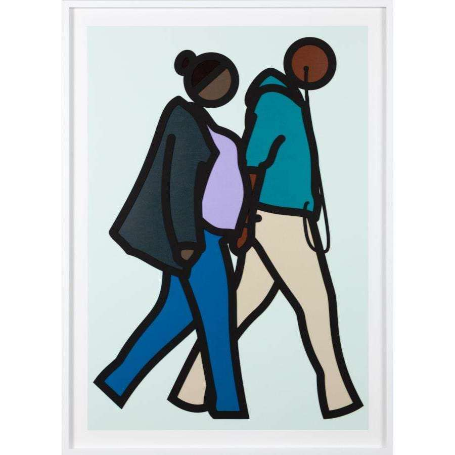 Julian Opie, New York Couple 6., 2019 | Lougher Contemporary