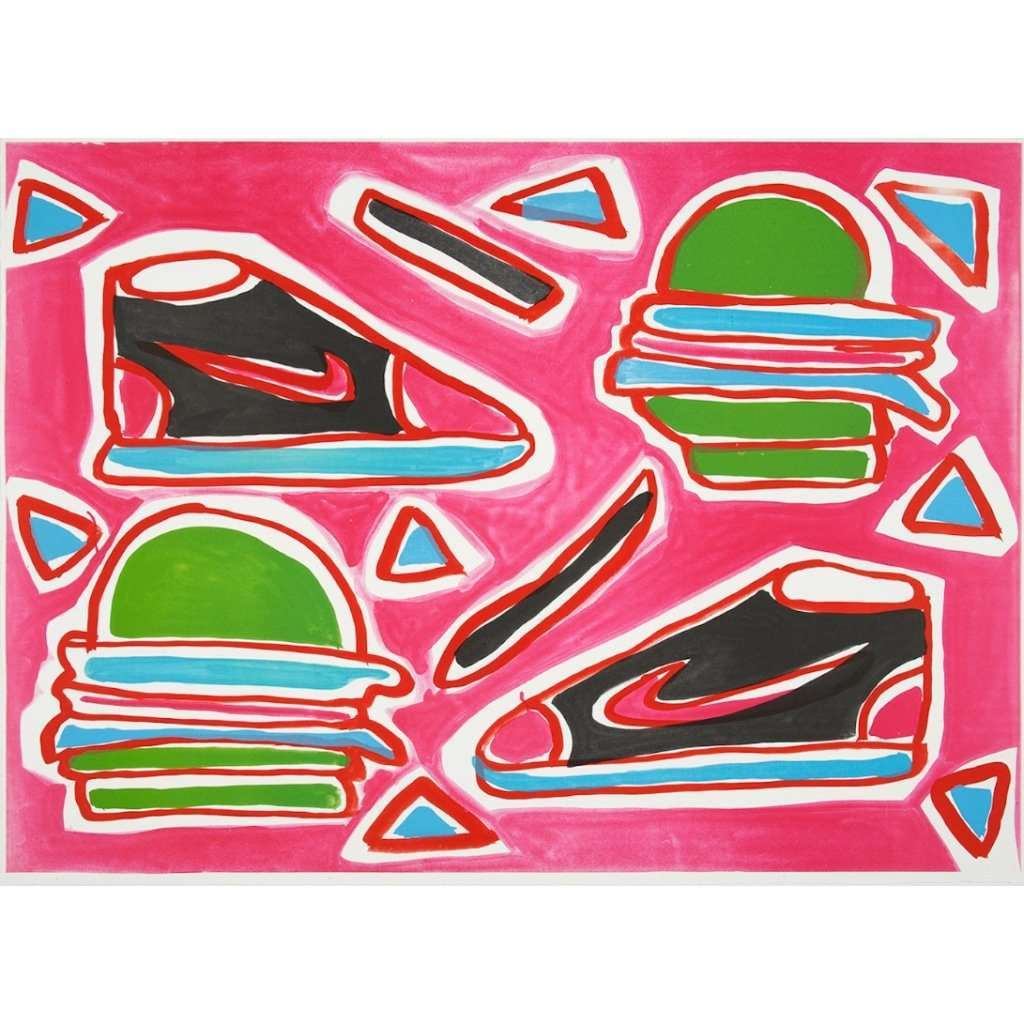 Katherine Bernhardt, Cheeseburger Deluxe, 2016 | Lougher Contemporary