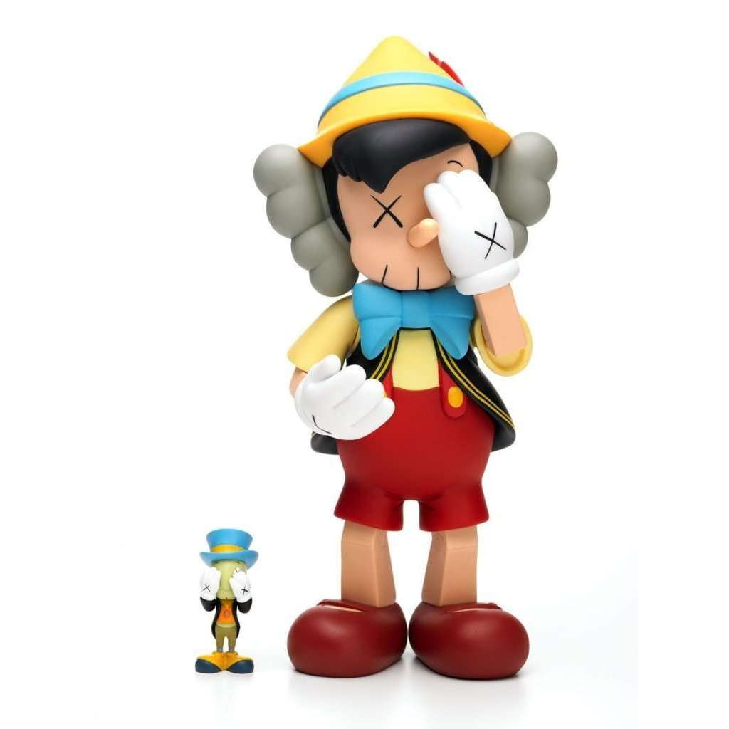 KAWS, Pinocchio & Jiminy Cricket, 2010 | Lougher Contemporary