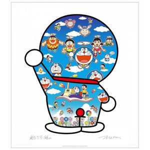 Takashi Murakami, Doraemon and Friends Under the Blue Sky, 2020 | Lougher Contemporary