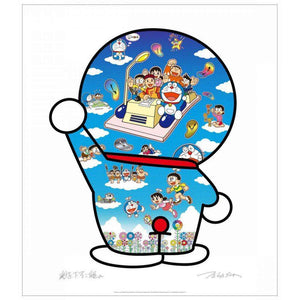 Takashi Murakami, Doraemon, Let's Go Beyond These Dimensions on a Time Machine with Master Fujiko F., 2020 | Lougher Contemporary