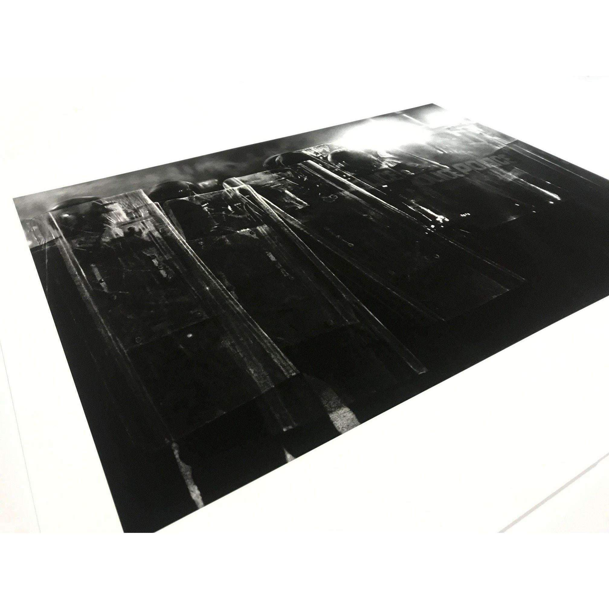 Robert Longo, Untitled (Riot Cops), 2017 | Lougher Contemporary