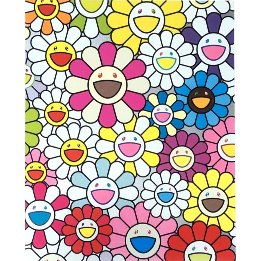 Takashi Murakami, A Little Flower Painting: Pink, Purple and Many Other Colors, 2017 | Lougher Contemporary