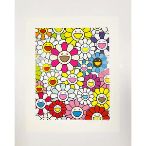 Takashi Murakami, A Little Flower Painting: Pink, Purple and Many Other Colors, 2018 | Lougher Contemporary