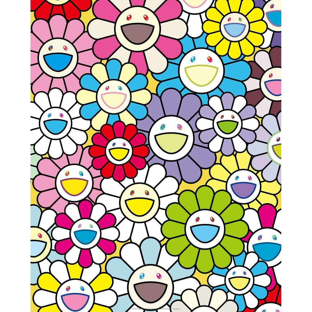 Takashi Murakami, A Little Flower Painting: Yellow, White, and Purple Flowers, 2017 | Lougher Contemporary