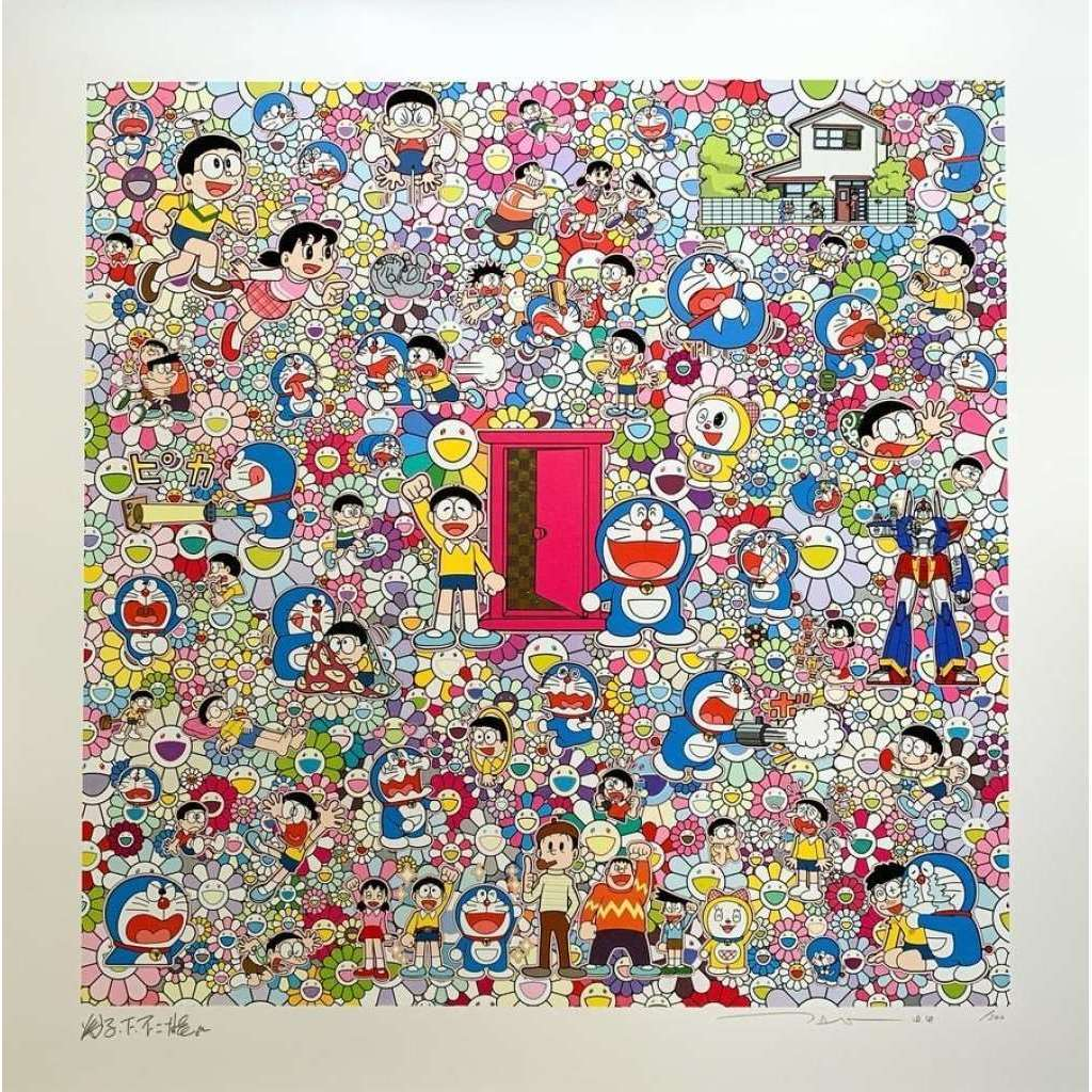 Takashi Murakami, A Sketch of Anywhere Door (Dokodemo Door) and an Excellent Day, 2020 | Lougher Contemporary