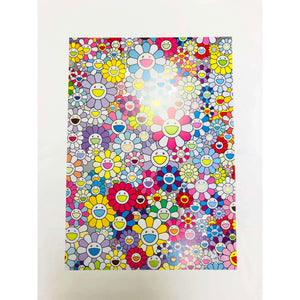 Takashi Murakami, Champagne Supernova: Multicolor + Pink and White Stripes, 2013 | Lougher Contemporary