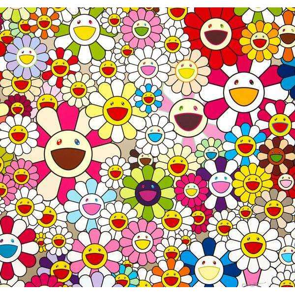 Takashi Murakami, Flowers Blooming in this World and the Land of Nirvana (2), 2013 | Lougher Contemporary