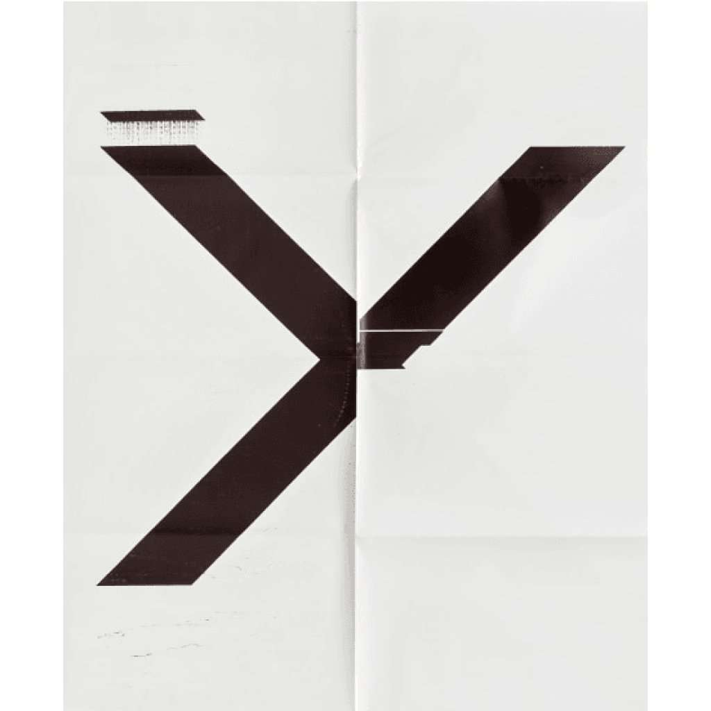 Wade Guyton, X Poster (Untitled, 2007, Epson UltraChrome inkjet on linen, 84 x 69 inches, WG1211), 2019 | Lougher Contemporary