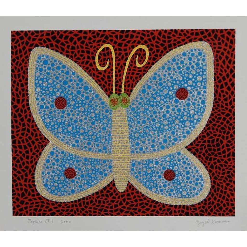Yayoi Kusama, Papillon (II) from Portfolio Amour Pour Toujours, 2000 | Lougher Contemporary