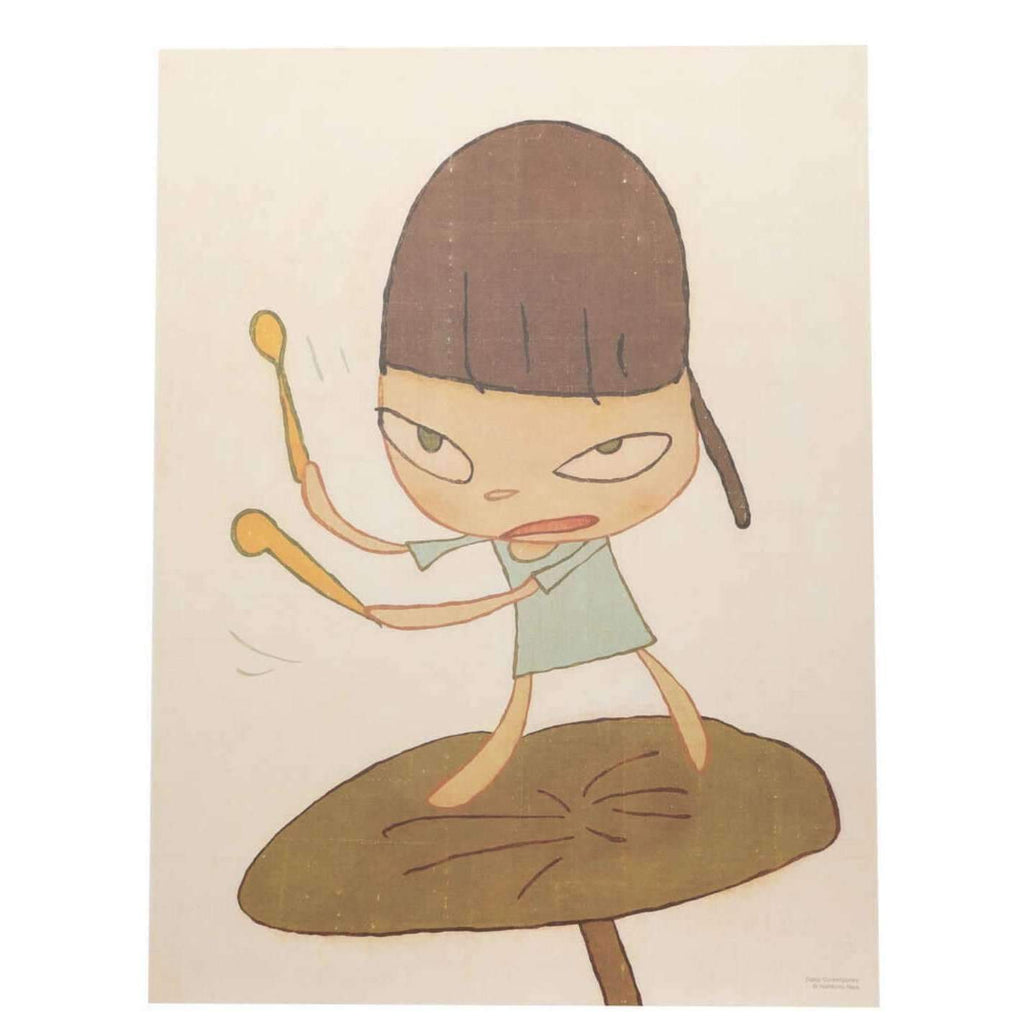 Yoshitomo Nara, Marching on a Butterbur Leaf, 2019 | Lougher Contemporary