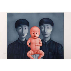 Zhang Xiaogang, Comrades with Red Baby (from Bloodline series), 2006 | Lougher Contemporary