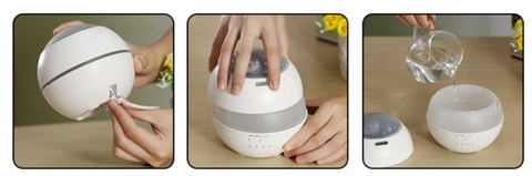 Air Humidifier For Home Harmonia - Product Method Use 1
