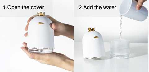 Air Humidifier For Home QUEEN - Ultrasonic - Product Use 1