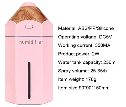 Car humidifier WRITER - Product Description - Air Humidifiers