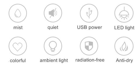 USB HUMIDIFIER BEDIS Smart Features