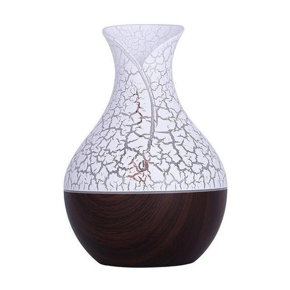 Wooden HUMIDIFIER FLORA - Burgundy