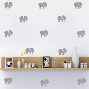 Decoración pared elefante.