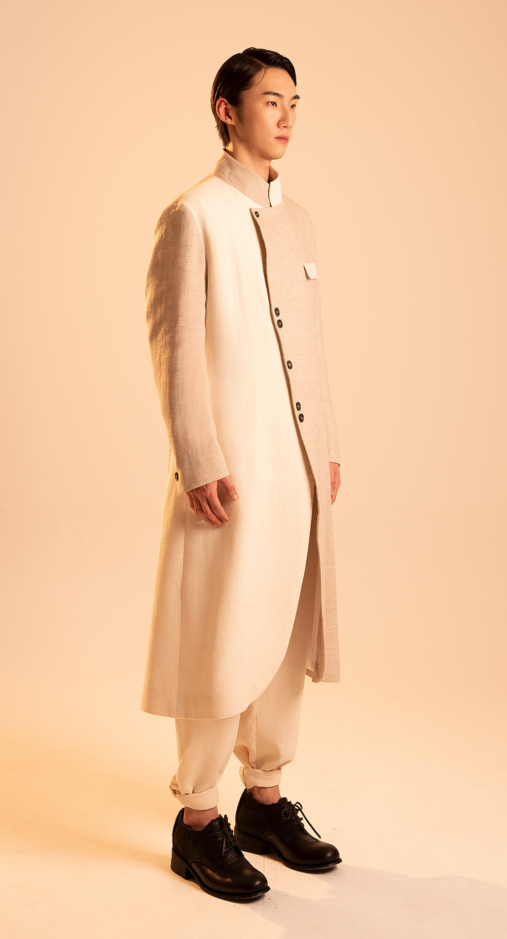 Two Way Collar Coat P-BE