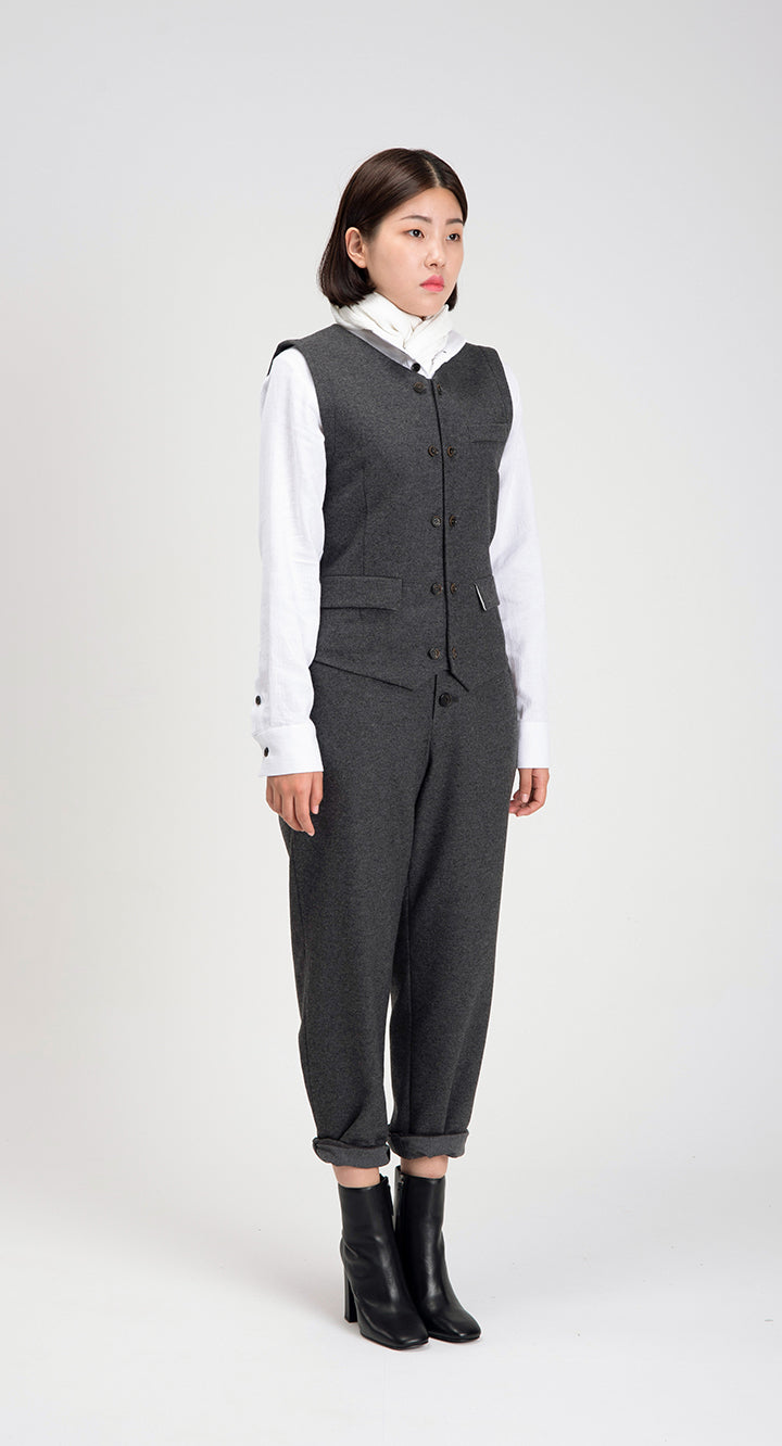 Women Slim Fit WOOL Vest DG