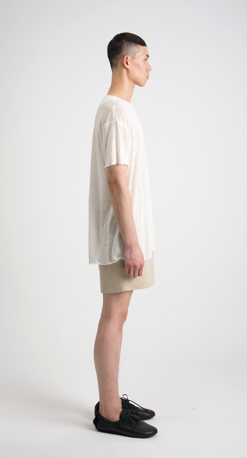 Unbalanced Half-sleeved T-shirt IV