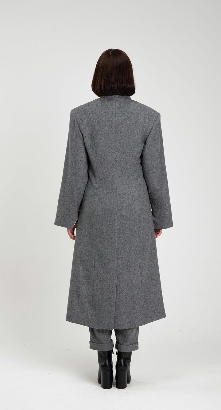 Women Oriental WOOL Long-coat GR