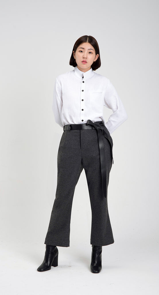 Women Slim Fit WOOL Slacks DG
