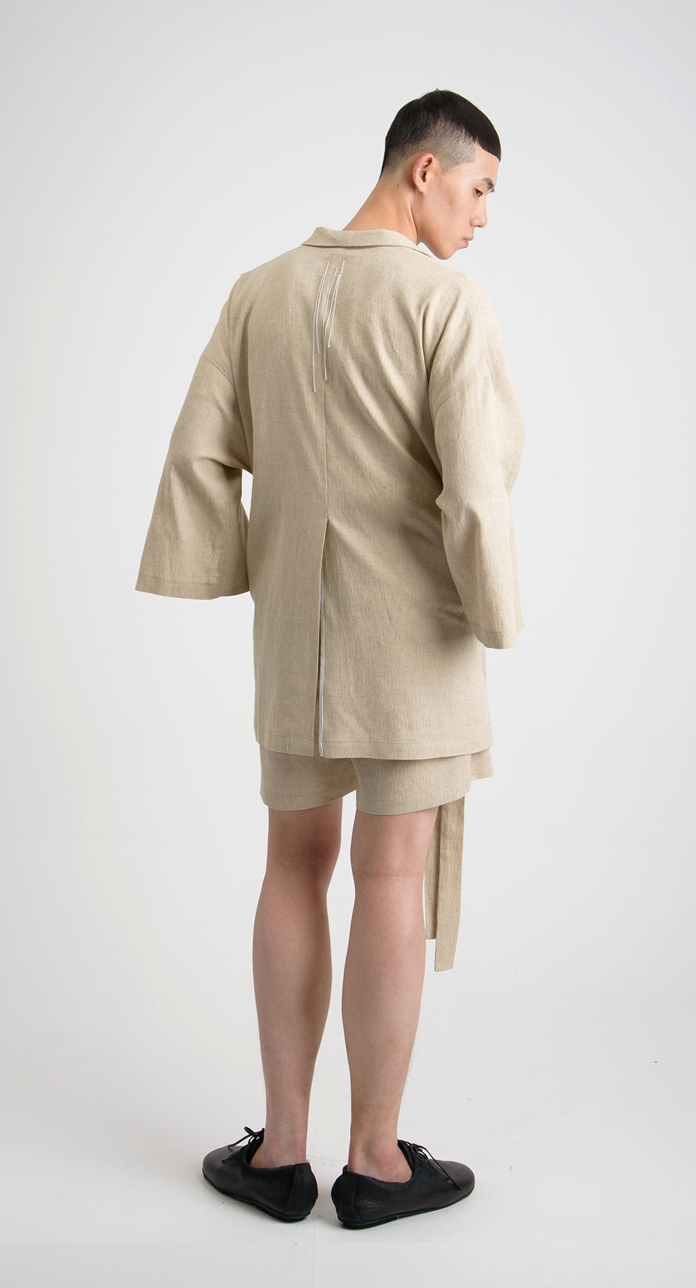 Shawl Collar Linen Jacket BE