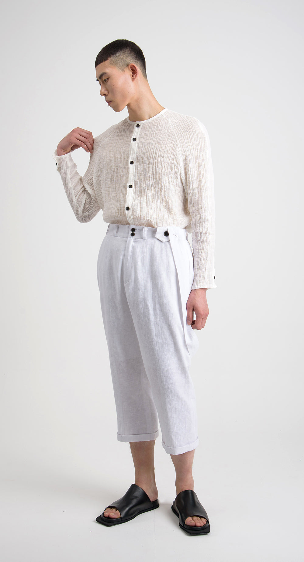 Cropped Linen Pant WH