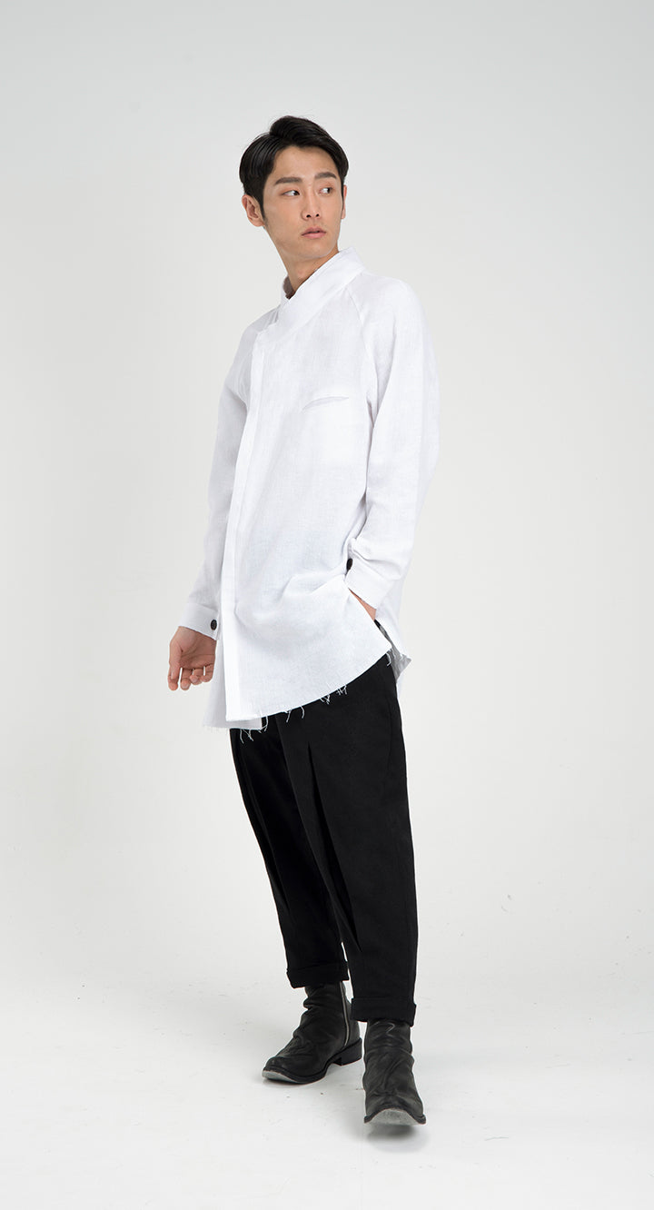 Oriental Raw Cut Shirt WH