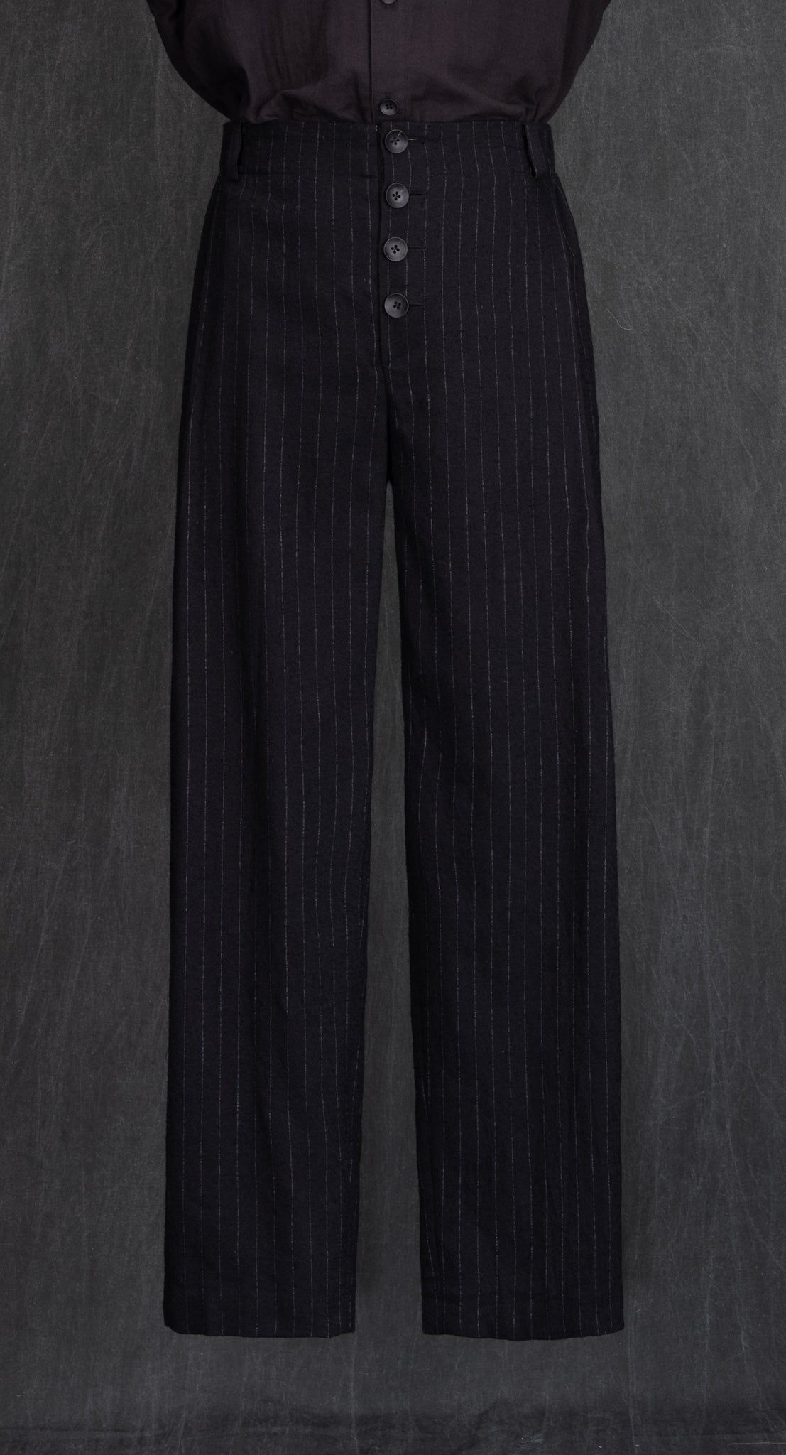 Deep Pleated Standard Fit Trousers BK