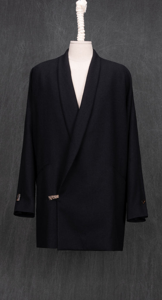 Shawl Collar Wool Jacket BK