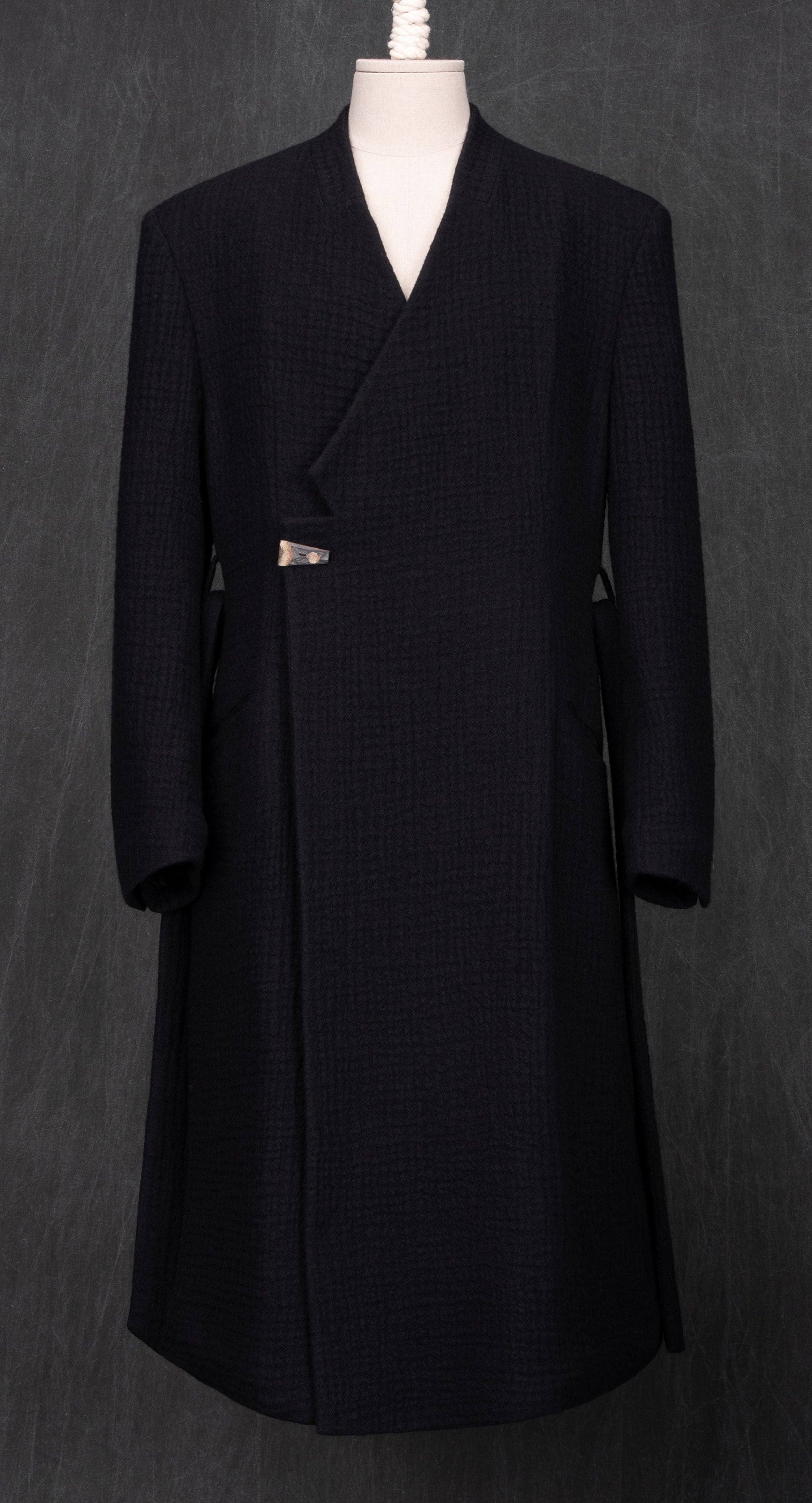 Laconic Quilted Lining Wool Coat BK