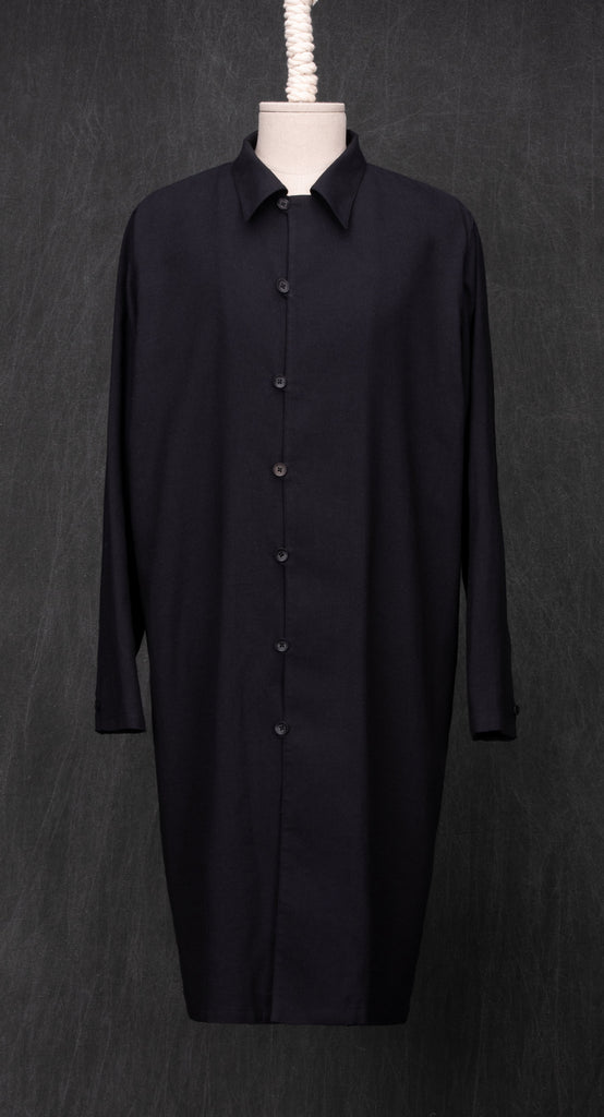 Oriental Concise Long Shirt BK