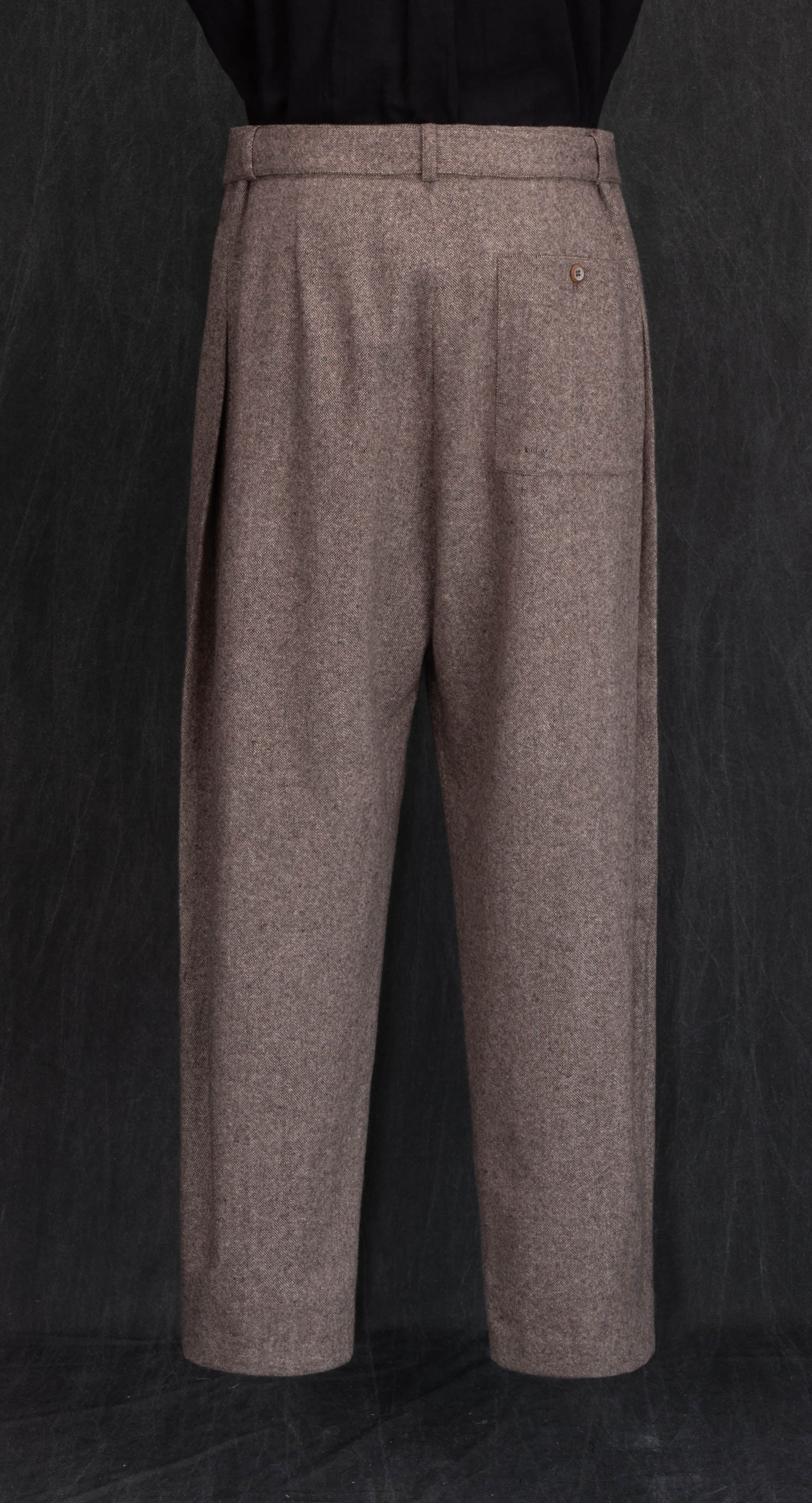 Oriental Double Pleated Wool Trousers BE
