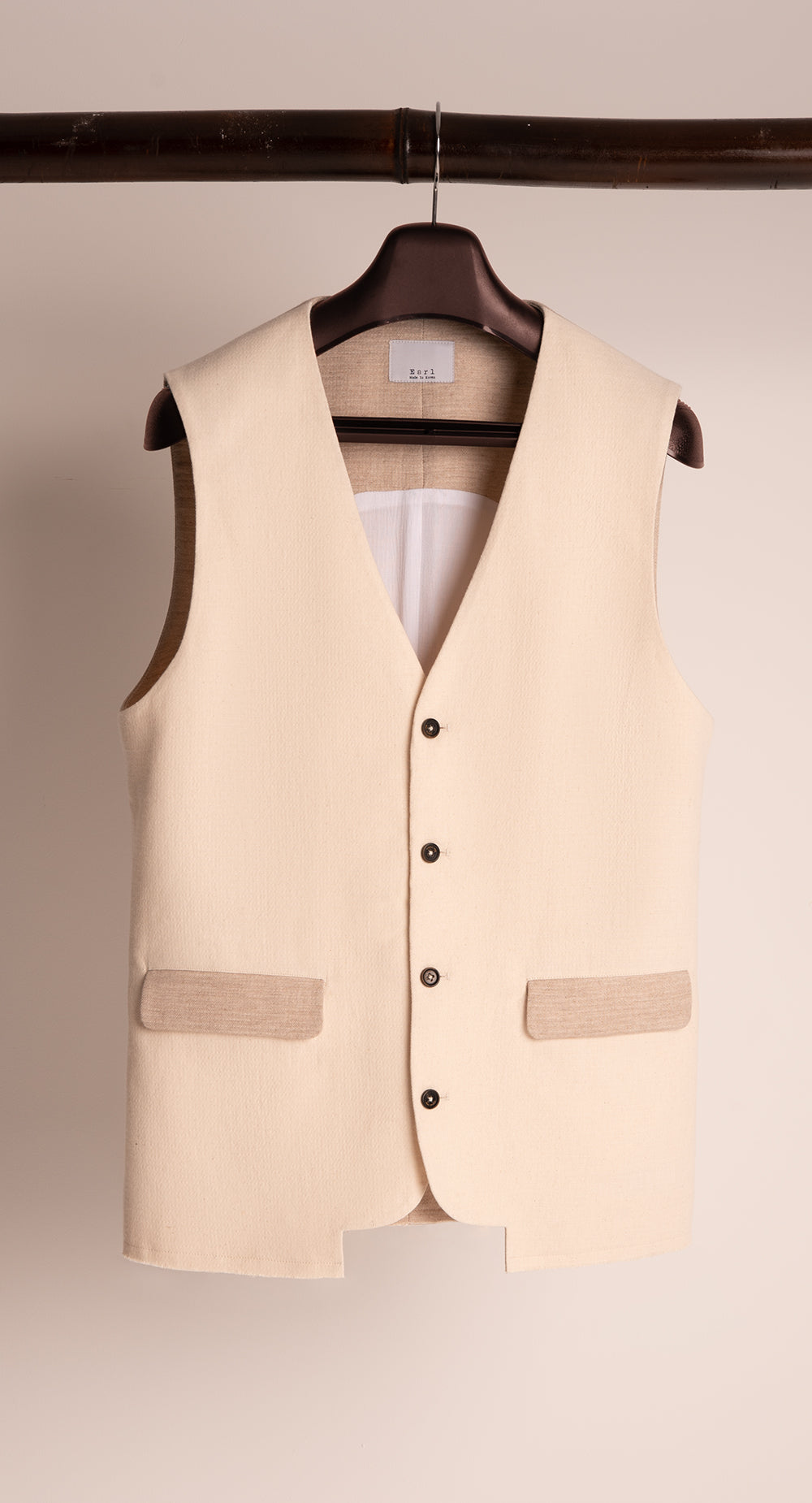 Single Breasted Cut-out Vest P-BE