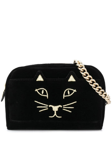 CHARLOTTE OLYMPIA embroidered kitty belt bag