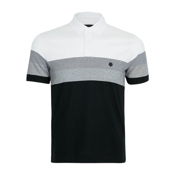 Zegna Men's Polo Stripe Short Sleeve