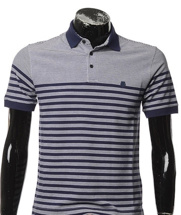 Zegna Men Stripe Polo